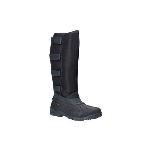 Cotswold Kemble Textile/Weather Wellingtons Black